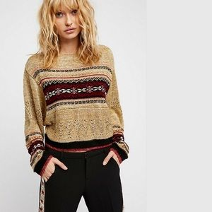 e4788b092bfb3e Free People. Free People Ski Lake Fair Isle Sweater OB715723 XS. NWT